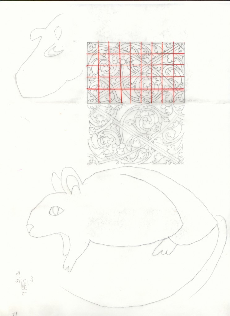 Study of a rat and ornaments by Chandra Brooks